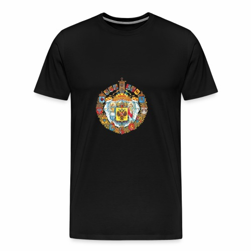 800px Greater coat of arms of the Russian empire - Men's Premium T-Shirt