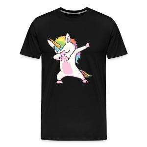 Unicorn cute dabbing T-Shirt Funny Dab Dance Gift - Men's Premium T-Shirt