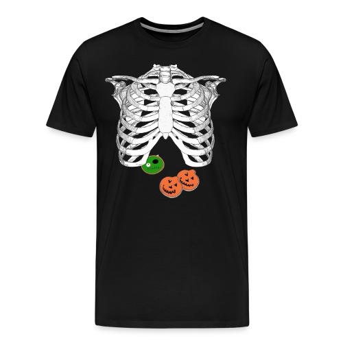 Halloween Trick o Treat Skeleton Donut Lover Shirt - Men's Premium T-Shirt