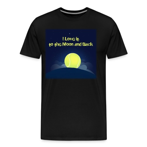 Tennis i Love it to the moon and back - Men's Premium T-Shirt