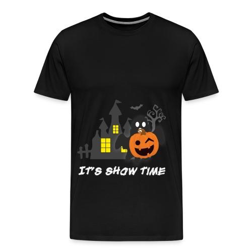 funny pumpkin constume, happy halloween day - Men's Premium T-Shirt