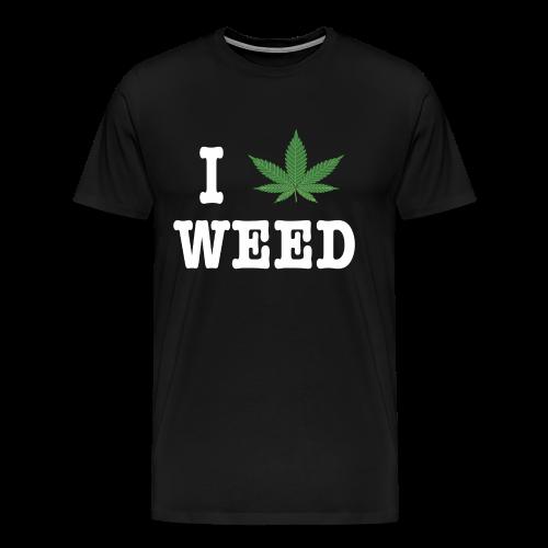 I LOVE WEED in white - Men's Premium T-Shirt
