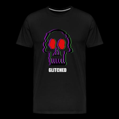 Glitched Skull - Men's Premium T-Shirt