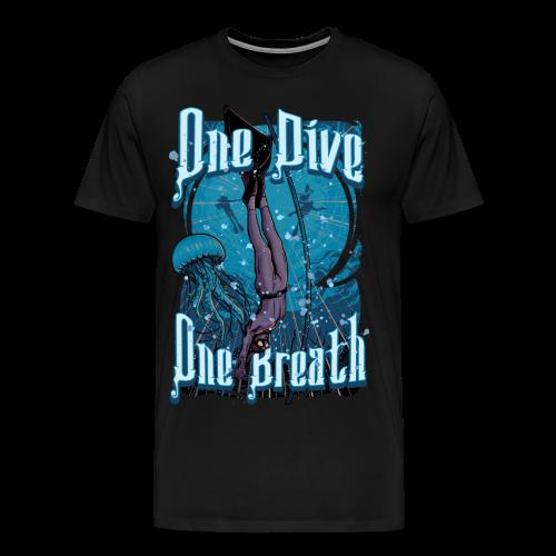 One Dive One Breath Freediving - Men's Premium T-Shirt