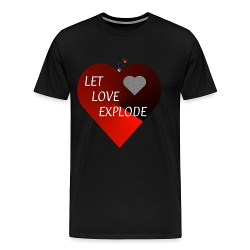 Let Love Explode Heart - Men's Premium T-Shirt