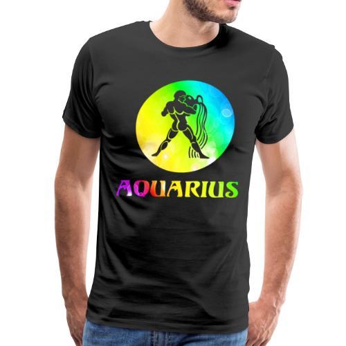 Aquarius Astrological Sign - Men's Premium T-Shirt