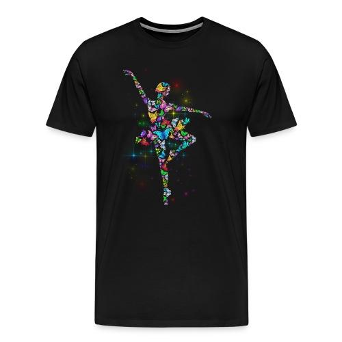 Ballerina - Butterfly - Ballet - Men's Premium T-Shirt