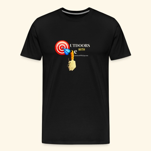 Outdoors with Oge Target and Jighead Logo - Men's Premium T-Shirt