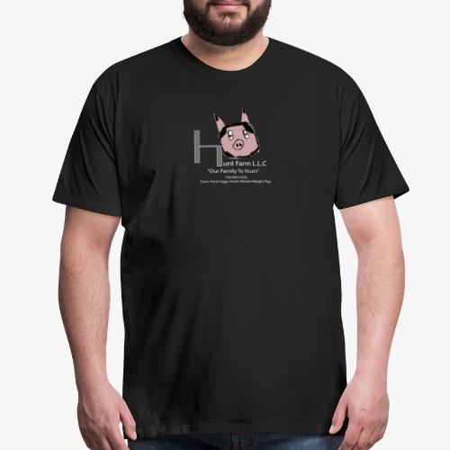 Hunt Farm Logo Pig (Drawn by Owen) - Men's Premium T-Shirt