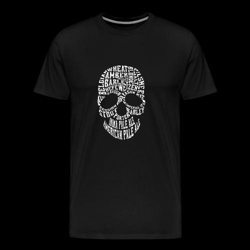 Typography Skull Logo - Men's Premium T-Shirt