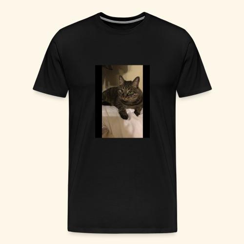 My black cat named Snickers. - Men's Premium T-Shirt