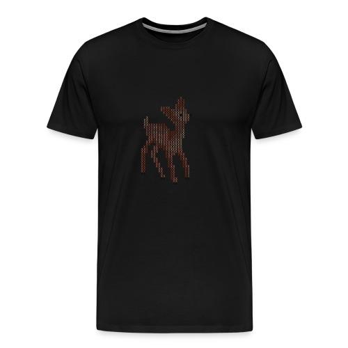 Cross Stitch Little Deer - Men's Premium T-Shirt