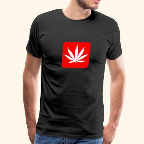 Cannabis Leaf Logo - Men's Premium T-Shirt