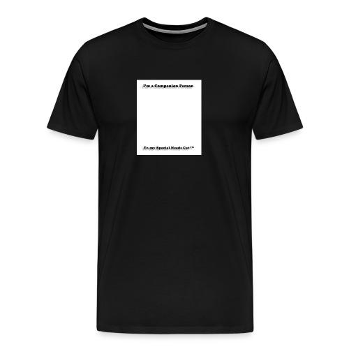 Companion Person to Special Needs Cat - Men's Premium T-Shirt