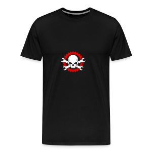 Gearhead Skull and Crossed Wrenches - Men's Premium T-Shirt