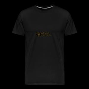 Grim Gold edge black interior - Men's Premium T-Shirt