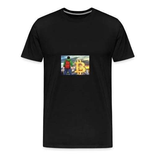 Bitcoin Highway - Men's Premium T-Shirt