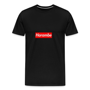 Harambe x Supreme Box Logo - Men's Premium T-Shirt