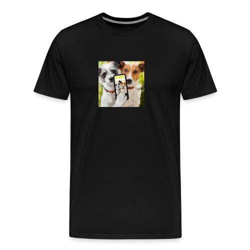 Dogs & Phone - Men's Premium T-Shirt