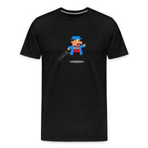 Blue Guy Jumping - Men's Premium T-Shirt