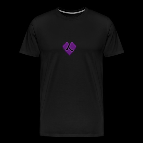 Pixel Purple Broken Heart - Men's Premium T-Shirt