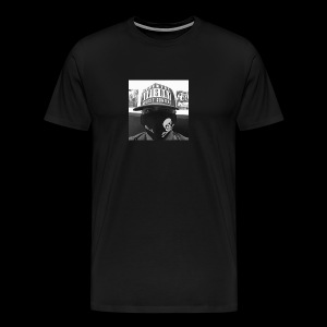 freaker126 covered face black and white photo - Men's Premium T-Shirt