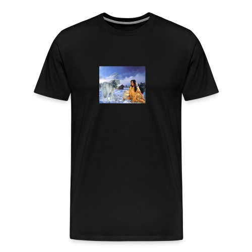 indian wolf mountains - Men's Premium T-Shirt