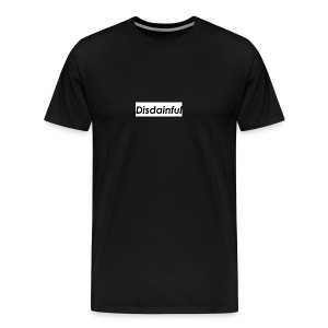 Distainful black letters - Men's Premium T-Shirt