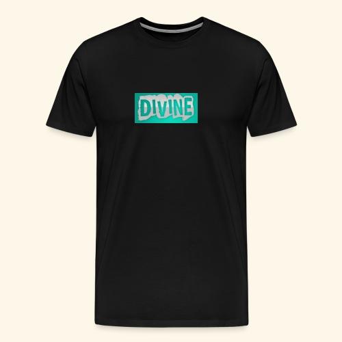 DIVINE - BLUE STICK LOGO - - Men's Premium T-Shirt