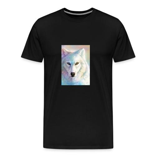 king wolf raindow wolf - Men's Premium T-Shirt