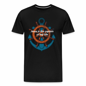 Jesus is the captain of my life Shirts - Men's Premium T-Shirt