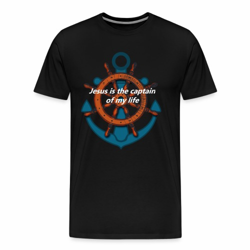 Jesus is the captain of my life Shirts - Men's Premium T-Shirt