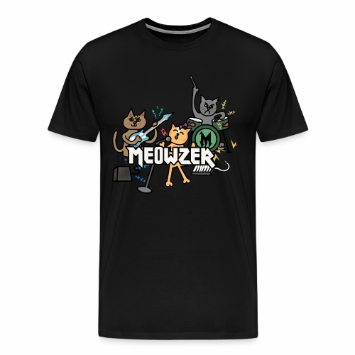 Meowzer! Funny Cute Cat Kitty Band, Adorable Silly - Men's Premium T-Shirt