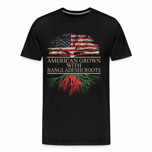 american grown with bangladeshi roots vintage - Men's Premium T-Shirt