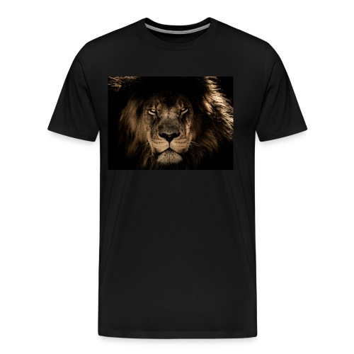 African lion face - Men's Premium T-Shirt
