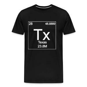Texas Periodic Table - Men's Premium T-Shirt