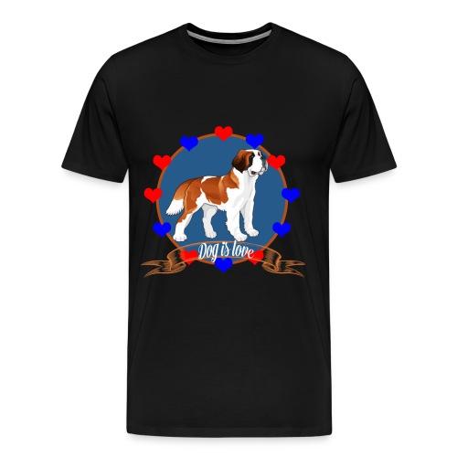love dog - Men's Premium T-Shirt