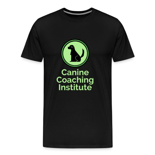 Canine Coaching Institute Logo with Light Green - Men's Premium T-Shirt
