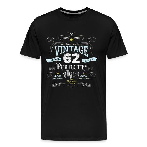 Funny Vintage 62nd Birthday Gift - Men's Premium T-Shirt