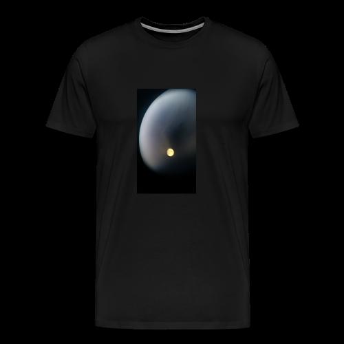 Moon through binoculars - Men's Premium T-Shirt
