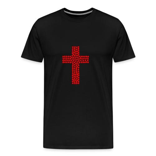 Jesus Love heart cross - Men's Premium T-Shirt