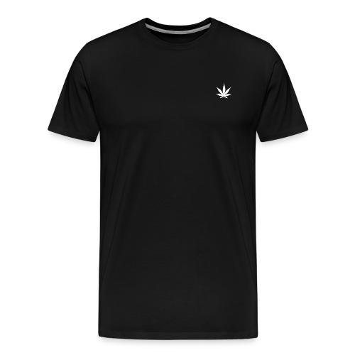 Cannabis Leaf Small Marijuana Logo - Men's Premium T-Shirt