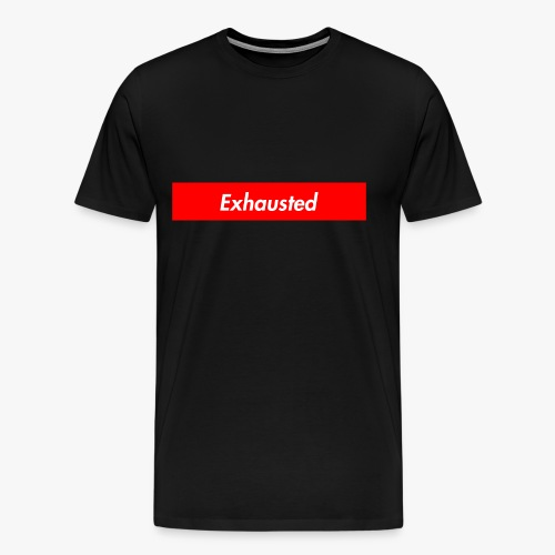 exhausted supreme logo - Men's Premium T-Shirt