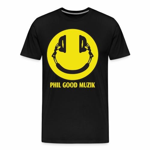 PHIL GOOD MUZIK HAPPY HEADPHONES - Men's Premium T-Shirt