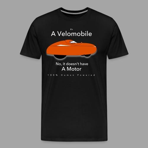it's a velomobile white - Men's Premium T-Shirt