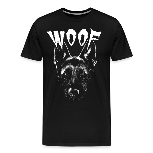 Woof Funny German Shepherd T-Shirt - Men's Premium T-Shirt