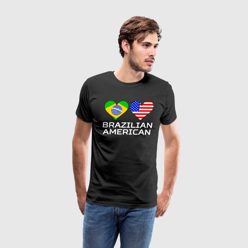 Brazilian American Hearts - Men's Premium T-Shirt