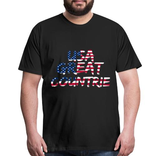 USA IS THE BEST - Men's Premium T-Shirt