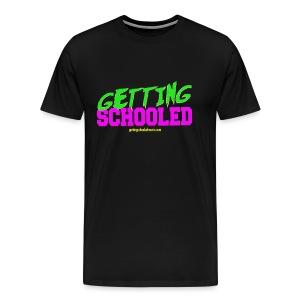 Getting Schooled Neon Title - Men's Premium T-Shirt