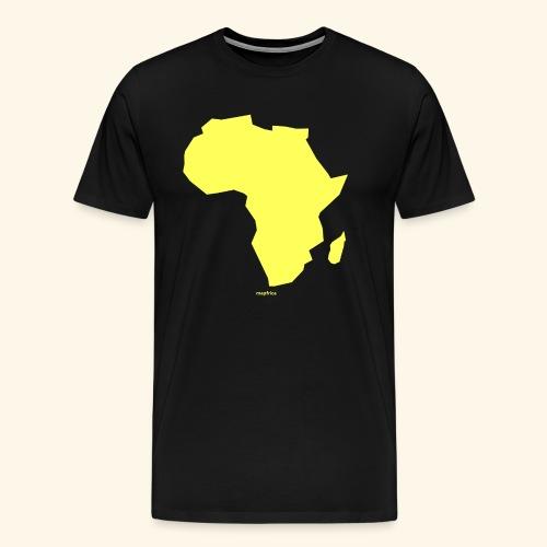 Africa Map Continent yellow - Men's Premium T-Shirt